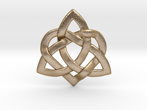 Hearty Knotty Pendant in Polished Gold Steel