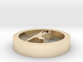 1aq (1) in 14k Gold Plated Brass