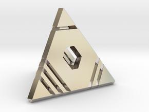 D4 - Stripes: 4-sided die in Platinum