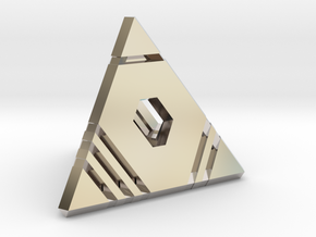 D4 - Stripes: 4-sided die in Rhodium Plated Brass