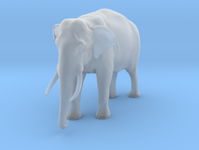 Indian Elephant 1:35 Standing Male in Smooth Fine Detail Plastic
