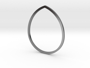 Drop 19.84mm in Polished Silver