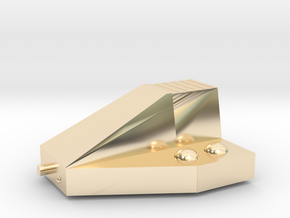 Ferret Tiny Grav Assault Sled Skids Up 25mm in 14K Yellow Gold