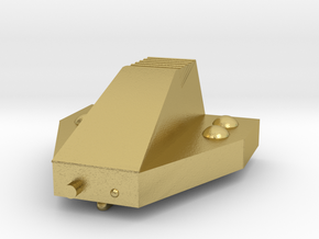 Ferret Tiny Grav Assault Sled Skids Down 25mm in Natural Brass