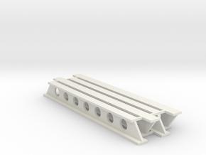 Stahlträger geschweißt V1 - 80mm 4erSet - 1:120 TT in White Natural Versatile Plastic