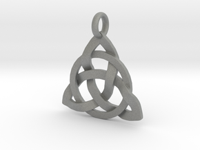 Circle Knotty Pendant in Gray Professional Plastic