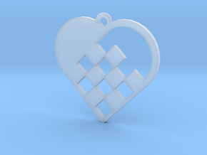 Swedish Heart Necklace in Smooth Fine Detail Plastic