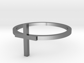 Cross 14.56mm in Polished Silver