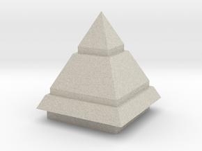金字塔高層.stl in Natural Sandstone