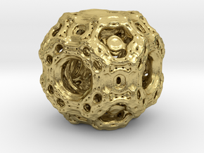 Qube.01 in Natural Brass
