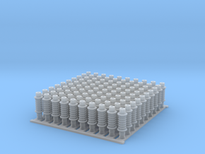 4mm OHLE insulators SM50D-C x 100 in Smooth Fine Detail Plastic