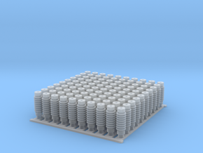 4mm OHLE insulators SM50D-A x 100 in Smooth Fine Detail Plastic