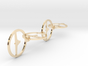 0151yoga (2) in 14k Gold Plated Brass