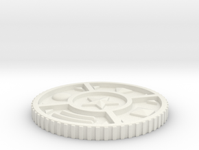 Zeo Medalion in White Natural Versatile Plastic