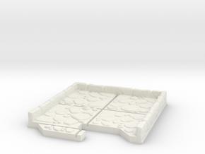 End Cap Dungeon Tile in White Natural Versatile Plastic