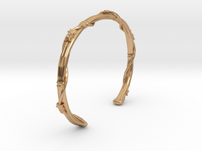Ivy Wrapped Bamboo Cuff Bracelet in Polished Bronze: Extra Small