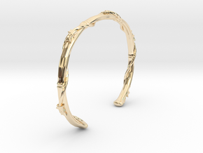 Ivy Wrapped Bamboo Cuff Bracelet in 14K Yellow Gold: Extra Small