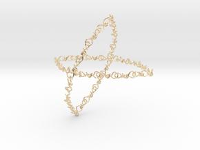 infinity earring in 14k Gold Plated Brass