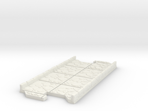 Long 2 way Dungeon Tile in White Natural Versatile Plastic