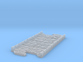 Long 2 way Dungeon Tile in Smooth Fine Detail Plastic