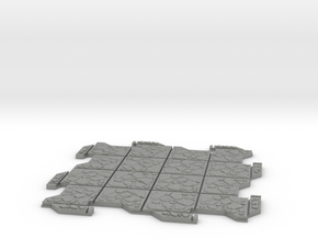 Large Multi Way Dungeon Tile in Gray PA12
