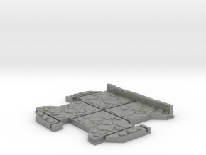 Small 3 way Dungeon Tile in Gray PA12