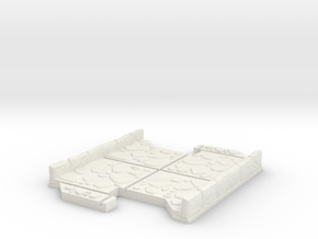 Small 2 way Dungeon Tile in White Natural Versatile Plastic