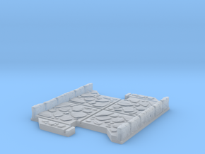 Small 2 way Dungeon Tile in Smooth Fine Detail Plastic