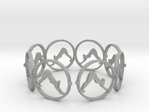 downward facing dog bracelet yoga (2) in Aluminum