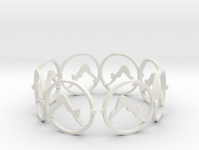 downward facing dog bracelet (1) in White Natural Versatile Plastic