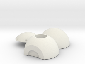 Litening III Optronic Ball Head in White Natural Versatile Plastic: 1:12