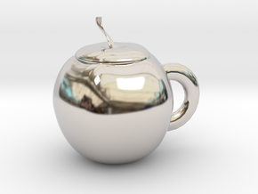 Apple cup in Rhodium Plated Brass