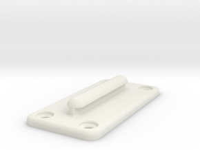 Queue Barrier Belt Clip in White Natural Versatile Plastic