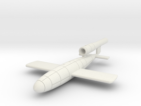 V-1 flying bomb  Fieseler Fi 103 in White Natural Versatile Plastic: 1:144