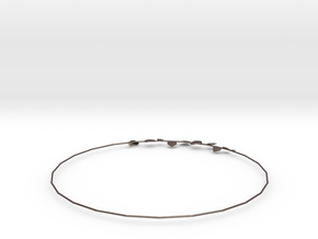 String of Hearts Necklace in Polished Bronzed-Silver Steel