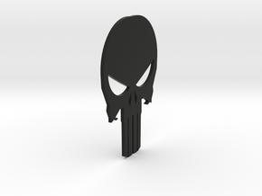 Black Skull in Black Premium Versatile Plastic