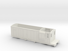 FR 'Spooner' Bogie Brake Van 7mm Scale in White Natural Versatile Plastic
