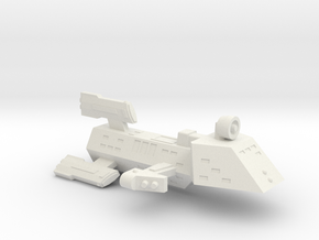 3788 Scale Kzinti Killer Escort Frigate (FKE) SRZ in White Natural Versatile Plastic