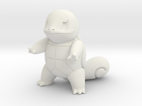 Squirtle in White Natural Versatile Plastic
