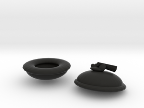 耳罩.stl in Black Natural Versatile Plastic