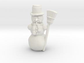 Snowman 00 Gauge  in White Natural Versatile Plastic