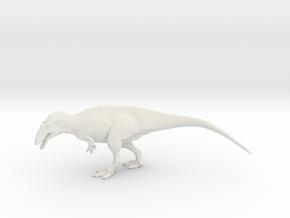 Acrocanthosaurus - 1/40 scale in White Natural Versatile Plastic