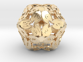 BETA: D20 Balanced - Cherry Blossom (Fancy Metals) in 14k Gold Plated Brass