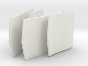 B-1B Intake Vanes in White Natural Versatile Plastic