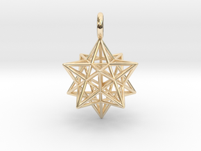 Stellated Dodecahedron 23mm in 14K Yellow Gold