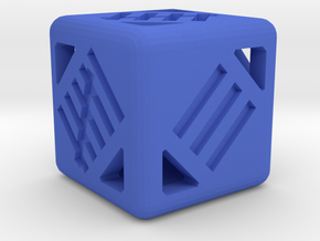 D6 12mm - Tally Marks in Blue Processed Versatile Plastic