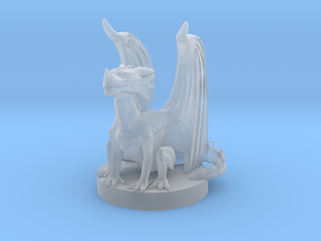 Red Dragon Wyrmling in Smooth Fine Detail Plastic