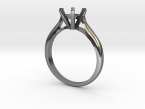 0.5 carat diamond ring in Polished Silver