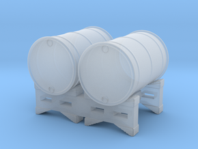 55 gal 2 Drum Stack O scale in Smooth Fine Detail Plastic
