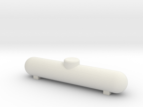 HO Scale 1000 gal Propane Tank in White Natural Versatile Plastic